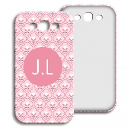 Case Samsung Galaxy S3 - Rosa Tapetenmuster - 1