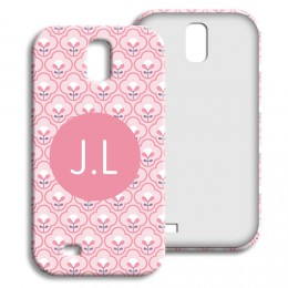 Case Samsung Galaxy S4 - Rosa Tapetenmuster - 1
