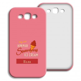 Case Samsung Galaxy S3 - Homemade Strawberry Ice Cream - 1