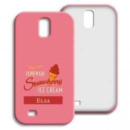 Case Samsung Galaxy S4 - Homemade Strawberry Ice Cream - 1