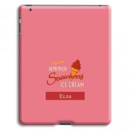 Homemade Strawberry Ice Cream - 1
