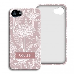 iPhone Cover NEU - Pastell mit Blumenmotiv - 1