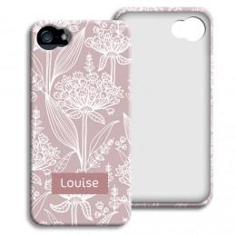 Case iPhone 5/5S - Pastell mit Blumenmotiv - 1
