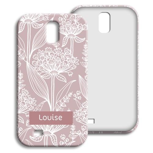 Case Samsung Galaxy S4 - Pastell mit Blumenmotiv 23842