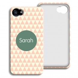 Case iPhone 5/5S - Zickzackmuster rosa - 1