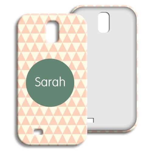 Case Samsung Galaxy S4 - Zickzackmuster rosa 23957