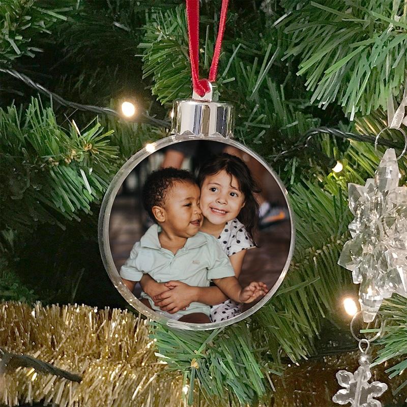 Personalisierte Weihnachtskugel Eigenes Foto