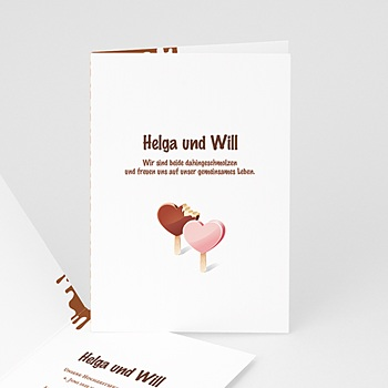 Kreative Hochzeitskarten - Hochzeitskarte - 1