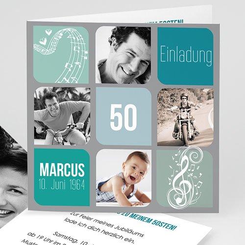 Erwachsener Einladungskarten Geburtstag Musiknote