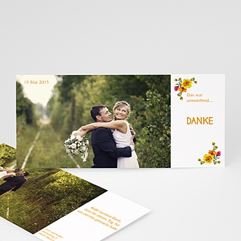 Danksagungskarten Hochzeit  - Style Printanier - 1