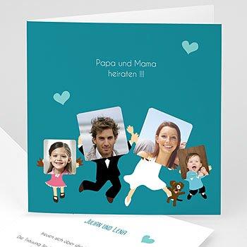 Einladungskarten Hochzeit  Happy family