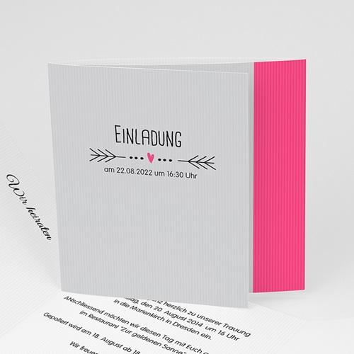 Hochzeitseinladungen modern - Traumpaar 24192