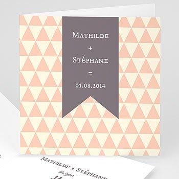 Hochzeitseinladungen modern - Schlichtheit - 1
