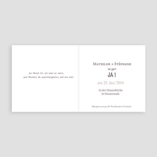 Hochzeitseinladungen modern - Schlichtheit 24247 preview