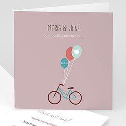Hochzeitskarten Vintage  - A bicyclette - 1