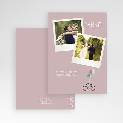 Danksagungskarten Hochzeit  Bike pas cher