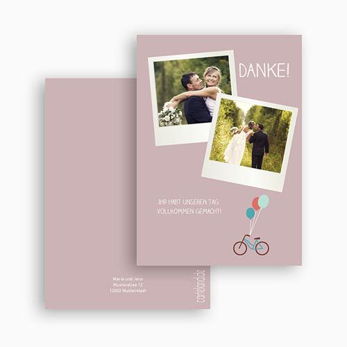 Danksagungskarten Hochzeit  Bike gratuit