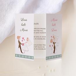 Hochzeitseinladungen modern - Vive les mariés - 1