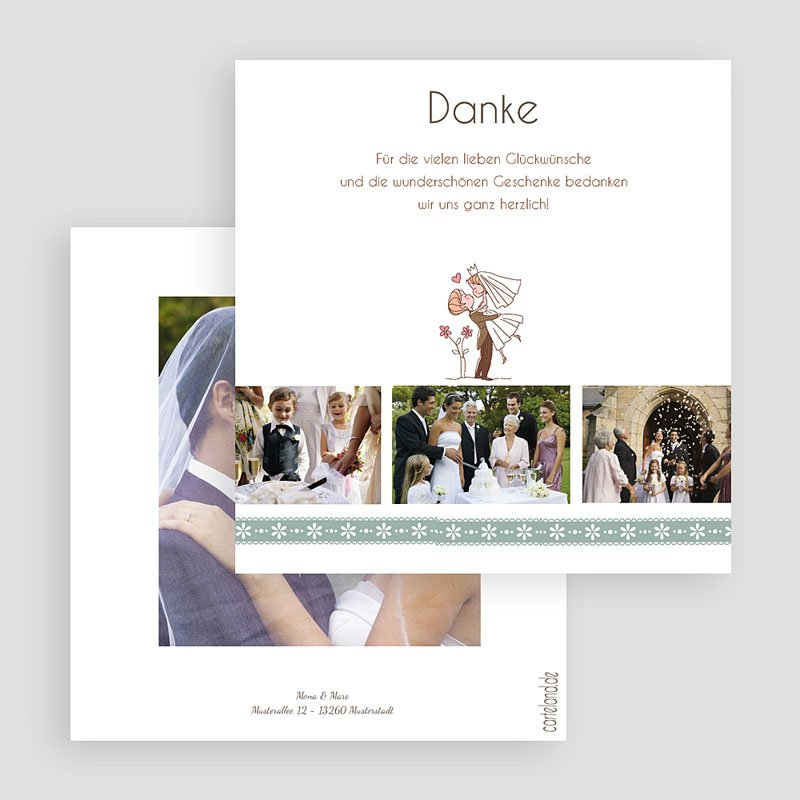 Danksagungskarten Hochzeit  Diane gratuit