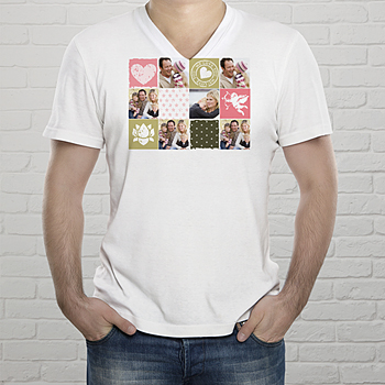 Tee-Shirt  - Collage zum Valentinstag - 1
