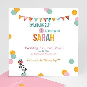 Geburtstagseinladungen Jungen - Pailletten - 1