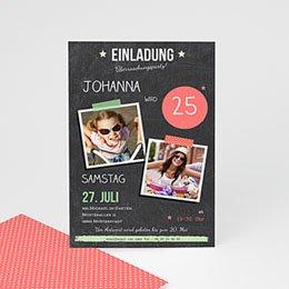 Runde Geburtstage - Schiefertafel Pop - 1