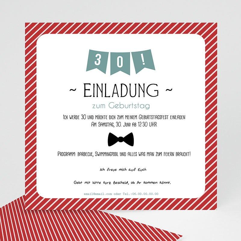 Erwachsener Einladungskarten Geburtstag Fähnchen