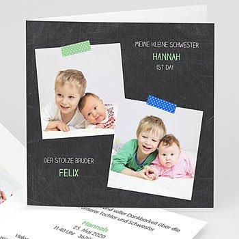 Geburtskarten mit Geschwistern - Endlich da! - 1