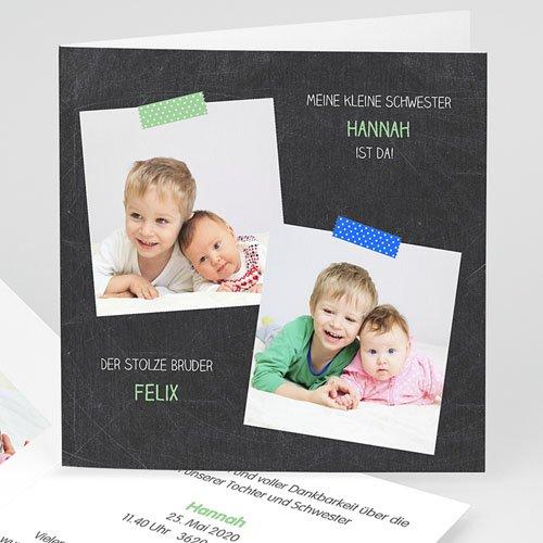 Geburtskarten mit Geschwistern - Endlich 24565 thumb