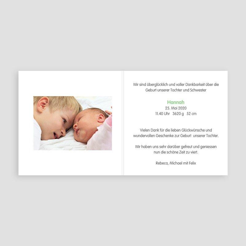 Geburtskarten mit Geschwistern - Endlich 24566 thumb