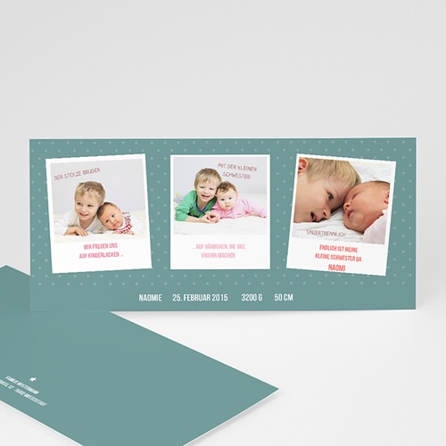Geburtskarten für Mädchen Unzertrennlich