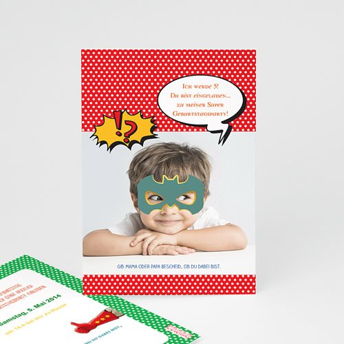 Einladungskarten Geburtstag Jungen Superparty