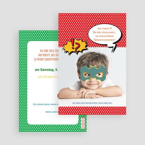 Einladungskarten Geburtstag Jungen Superparty gratuit