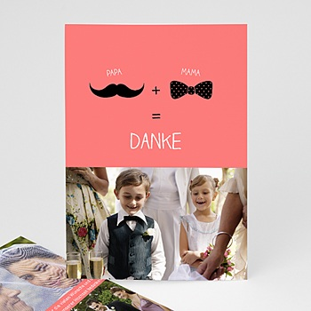 Originelle Dankeskarte Hochzeit  - Elegant - 1