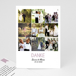 Danksagungskarten Hochzeit Filmreif