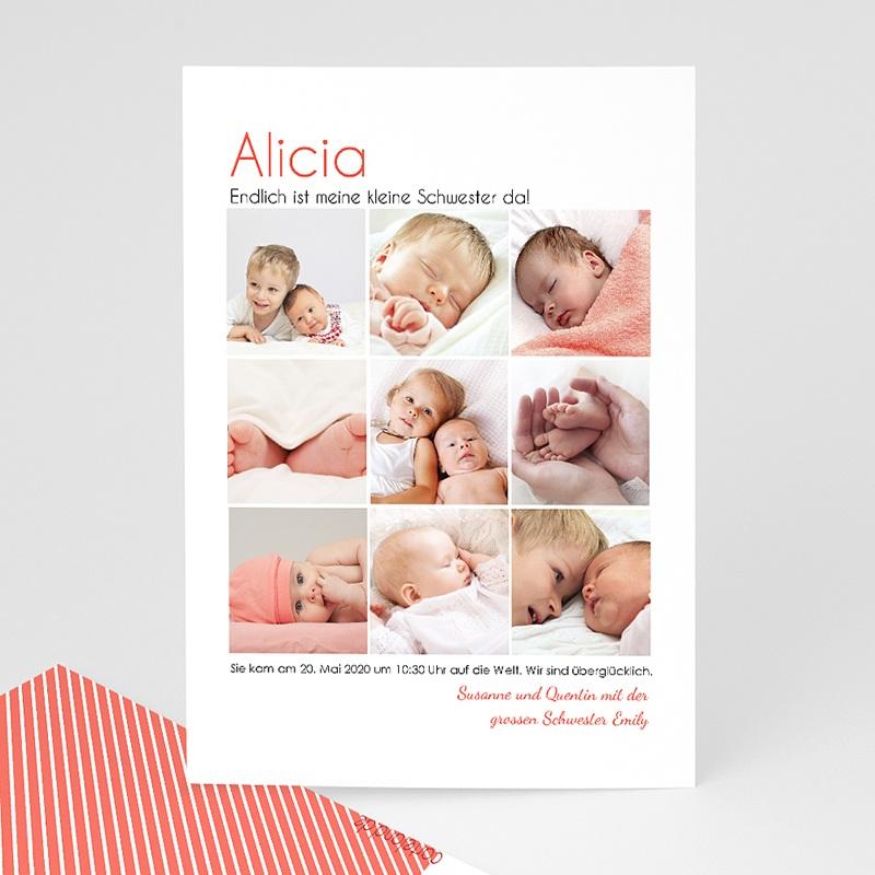 Geburtskarten für Mädchen Fotoroman