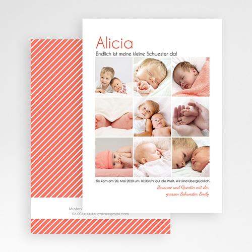 Geburtskarten für Mädchen Fotoroman gratuit