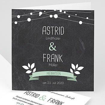 Einladungskarten Hochzeit  - Lichterkette - 1