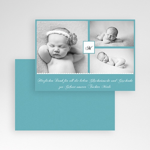 Dankeskarten Geburt Mädchen - Kyara 24718 test