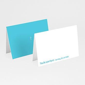 Tischkarten Taufe - Taufkarte Kreuz - 1