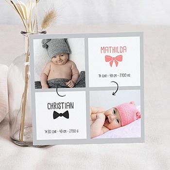 Babykarten für Zwillinge gestalten - Zwillinge - 1