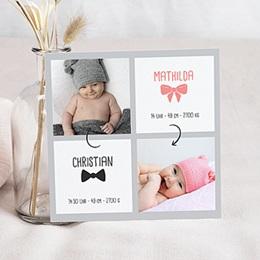 Karten Geburt Eine für Zwei