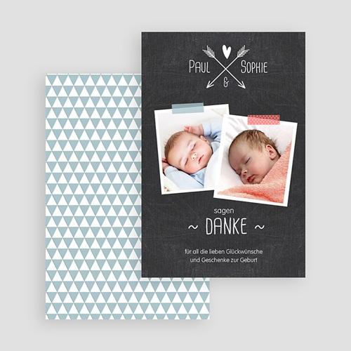 Dankeskarten Geburt für Zwillinge Glücksmoment gratuit