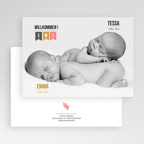 Babykarten für Zwillinge gestalten - Zwillingsfoto 24788 preview
