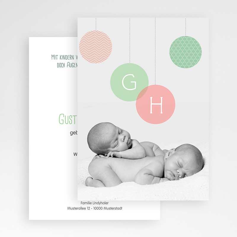 Geburtskarten für Zwillinge Olivia gratuit