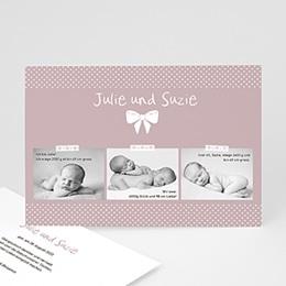 Karten Geburt Madame - Zwillinge