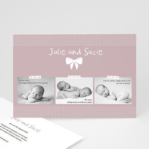 Geburtskarten für Zwillinge Madame - Zwillinge