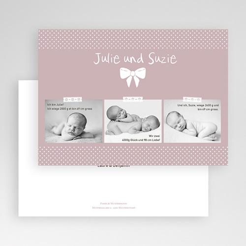 Geburtskarten für Zwillinge Madame - Zwillinge gratuit