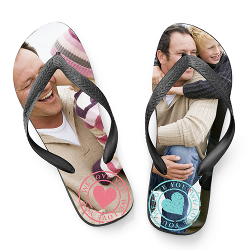 Flip-Flop mit Foto - I love you 24825 test