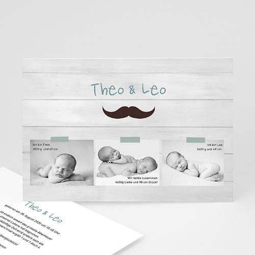 Babykarten für Zwillinge gestalten - Zwillingspaar 24830